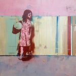 Girl by Striped Wall SOLD